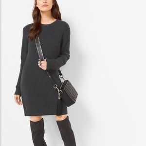 MICHAEL Michael Kors Merino ribbed sweater dress